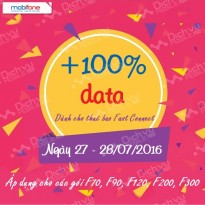 Khuyến mãi 100% data Fast Connect Mobifone ngày 27 - 28/07/2016