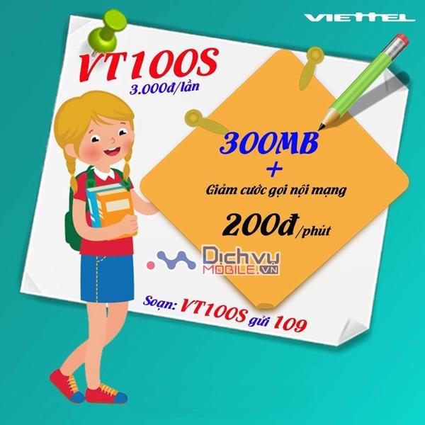 Khuyến mãi hấp dẫn khi đăng ký gói VT100S Viettel