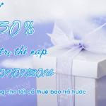 Khuyến mãi Vinaphone ngày vàng 7/7/2016 tặng 50% thẻ nạp