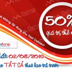 Khuyến mãi Mobifone tặng 50% thẻ nạp ngày vàng 2/8/2016
