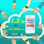 Mua thêm 1,3GB tốc độ cao với gói 3G Max25K Viettel