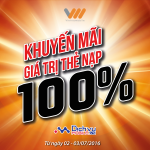 Vietnamobile khuyến mãi 100% thẻ nạp ngày 2 – 3/7/2016