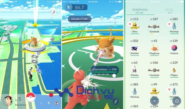 Cách chiến đấu trong Pokemon GO
