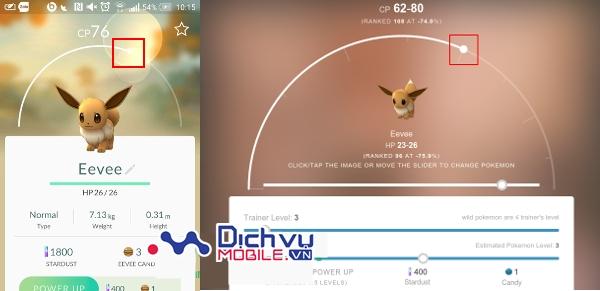 Cách tính chỉ số IV Pokémon trong Pokémon GO