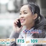 Đăng ký gói FT5 Viettel miễn phí gọi nội mạng dưới 15 phút