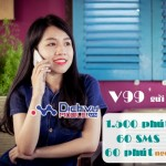 Đăng ký gói khuyến mãi V99 Viettel miễn phí 1.500 phút gọi