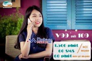 Gói cước khuyến mãi V99 mạng Viettel