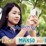 Đăng ký gói Max50 Viettel mua thêm đến 1,2GB data
