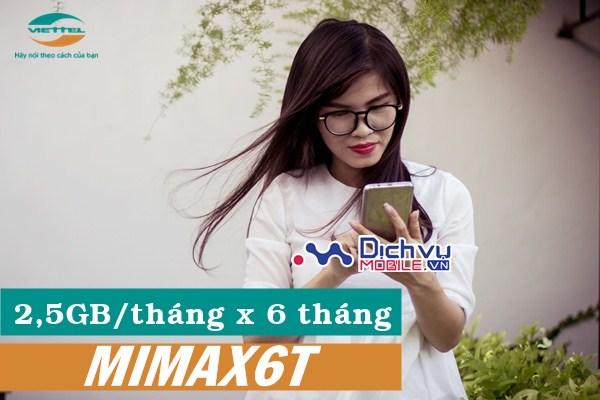 Nhận đến 2,5GB mỗi tháng khi đăng ký gói MiMax6T Viettel