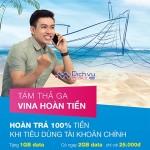 Hoàn trả 100% tài khoản chính với Sim Biển xanh Vinaphone