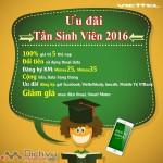 Viettel dành tặng ưu đãi ngập tràn cho HSSV đầu năm học 2016