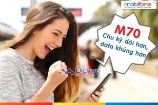 Đăng ký gói 3G M70 chu kỳ dài, tận hưởng ưu đãi data khủng
