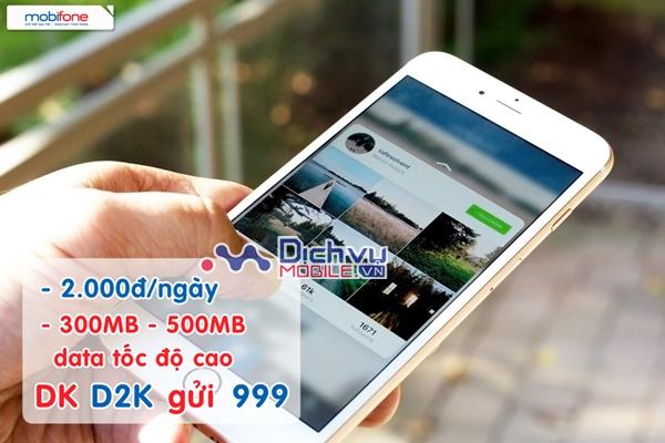 Gói 3G giá rẻ D2K Mobifone chỉ 2.000đ/ngày