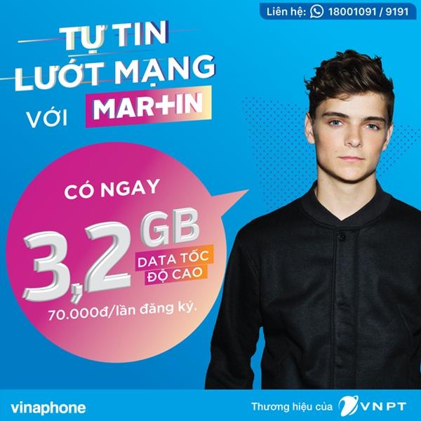 Gói cước 3G DataBig - Martin Garrix Vinaphone