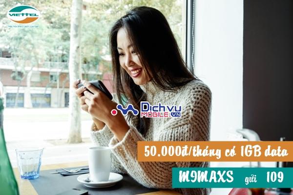 Nhận ngay 1GB data từ gói MiMaxS Viettel với chỉ 50.000đ