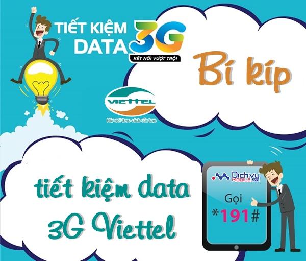 Hướng dẫn các cách tiết kiệm data 3G Viettel