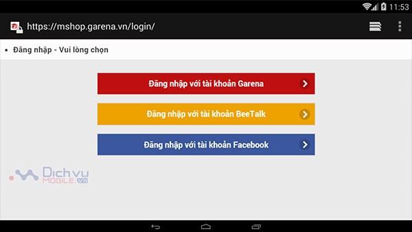 Hướng dẫn nạp thẻ game Garena bằng thẻ cào Mobifone