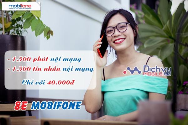 Miễn phí 1.500 phút gọi, 1.500 SMS với gói 8E Mobifone
