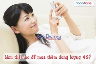 Mua thêm dung lượng cho các gói 4G mạng Mobifone