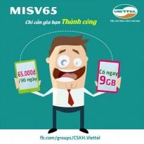 Viettel tặng 100% lưu lượng data khi gia hạn gói MISV65