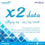 Vinaphone khuyến mãi 100% data ngày vàng 24 – 25/09/2016