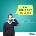 Đăng ký gói C1000 Viettel ưu đãi gọi xả láng chỉ với 1000đ