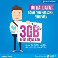 Gói BIGSV Vinaphone ưu đãi đến 3GB chỉ với 50.000đ
