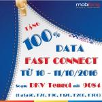 Khuyến mãi 100% data Fast Connect Mobifone ngày 10 và 11/10/2016
