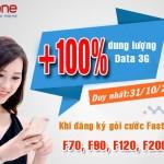 Khuyến mãi 100% dung lượng 3G Mobifone Fast Connect ngày 31/10/2016