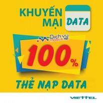 Nhân đôi dung lượng khi nạp thẻ data Viettel lần thứ 2 trong tháng