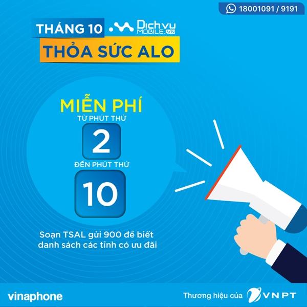 Thỏa sức ALO Vinaphone miễn phí gọi cả ngày chỉ 1.000đ