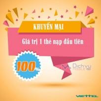 Viettel khuyến mãi tặng 100% giá trị thẻ nạp cho thuê bao Dcom kích hoạt mới