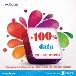 Vinaphone khuyến mãi ngày vàng data từ 29 đến 30/10/2016
