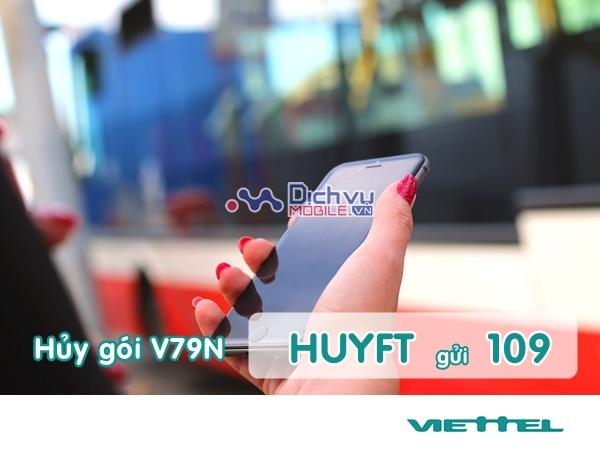 Cách hủy gói V79N Viettel