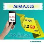 Đăng ký gói Mimax35 Viettel truy cập internet thả ga chỉ 35,000đ/ tháng