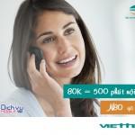Đăng ký gói N80 Viettel có ngay 500 phút gọi chỉ 80.000đ