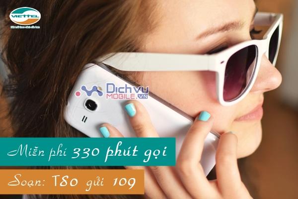 Gọi thoại thỏa thích với gói T80 Viettel
