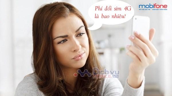 Mobifone hỗ trợ đổi sim 4G với cước phí là bao nhiêu?