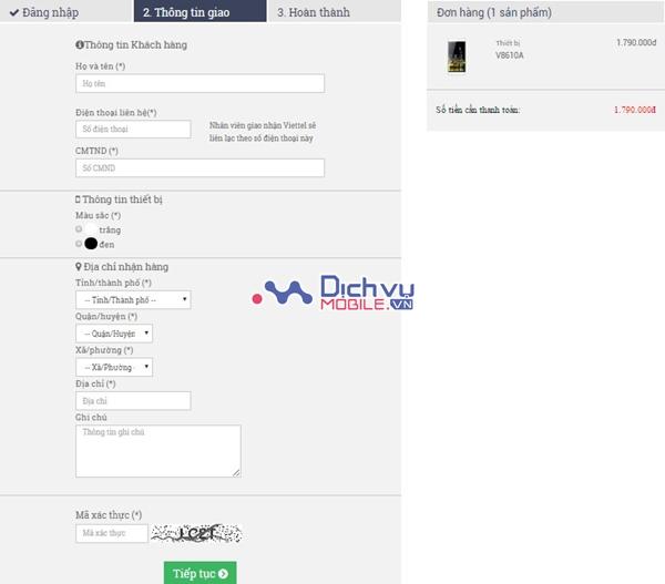 Mua hàng online - Trúng iPhone 7 cùng Viettel
