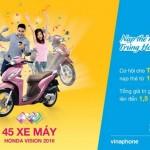 Nạp thẻ cho dế yêu, trúng HONDA Vision mỗi ngày cùng Vinaphone