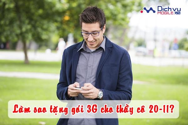 Tặng gói 3G cho thầy cô nhân dịp 20-11