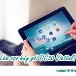 Cách hủy gói DC30 Viettel bằng tin nhắn