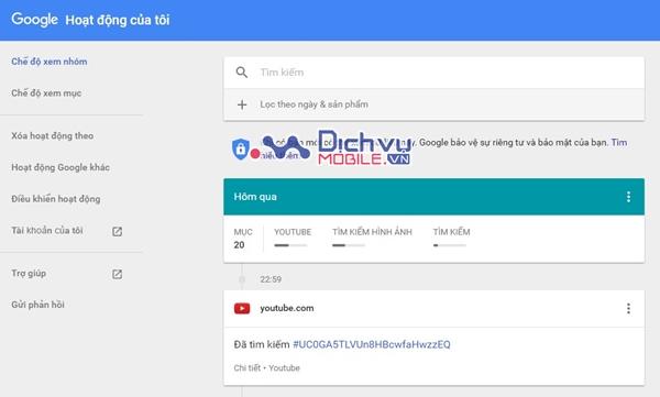 Cách kiểm tra bạn đã tìm kiếm gì trên Google trong năm qua