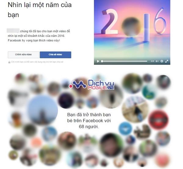 """Cách tạo video """"Nhìn lại một năm"""" (year in review) trên Facebook"""