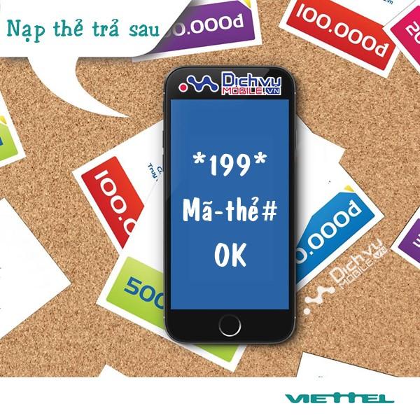 Cách thanh toán cước trả sau Viettel bằng thẻ cào