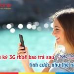 Cách tính cước khi đăng ký 3G cho thuê bao Mobifone trả sau