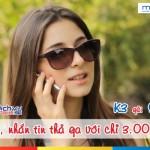 Đăng ký gói K3 của Mobifone miễn phí 30 phút gọi, 30 tin nhắn
