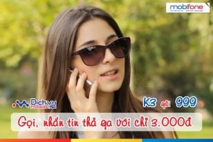 Đăng ký gói K3 Mobifone gọi nội mạng chỉ 3.000đ/ngày