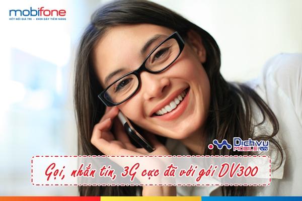 Gói combo data DV300 vừa 3G, vừa nhắn tin, gọi thoại