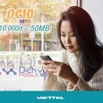 Đăng ký gói DC10 Viettel sử dụng 3G giá rẻ cho sim Dcom